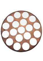 Oviedo Round  Wood Look Mirror