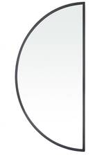 Tasha Black Half Moon Mirror - Large