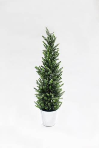 Pine Silver Glitter Tree Large