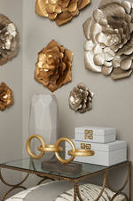 Primrose Metal Deco Wall Art Gold - 3 sizes