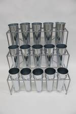 Metal Flower Stand w/15 Buckets
