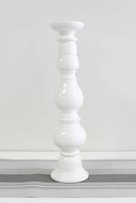 Monte Carlo Ceramic Candle Holder White