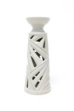Palm Pillar Candle Holder