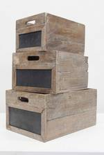 Wooden Crate with Blackboard Set/3