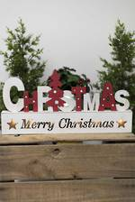 Wooden Xmas Light Up Sign
