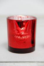 Red Tealight Holder Merry Christmas