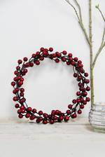 Dark Red Berry Wreath